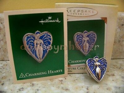 Hallmark 2005 Charming Hearts Angel Locket Miniature Christmas Ornament