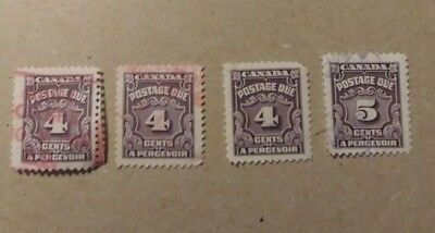Canada Postage Due Stamps. Various Used (ST1)