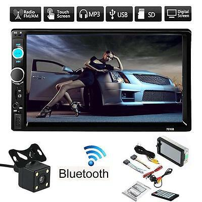 """7"""" 2DIN Double Car MP5 MP3 Player Bluetooth Touch Screen Stereo Radio HD Camera"""