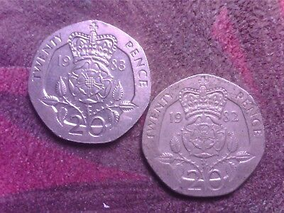 Great Britain   20    Pence  1982   1983
