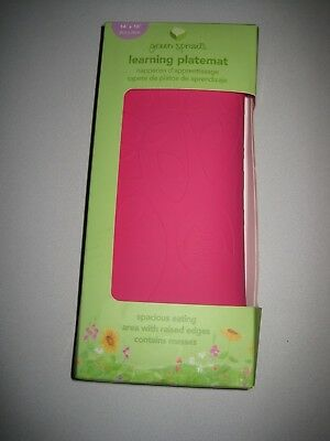 green sprouts Learning Platemat, Pink