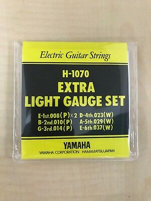 YAMAHA set string for electric guitar Extra light scale H-1070