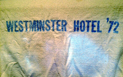 Westminister Hotel 1972 Towel