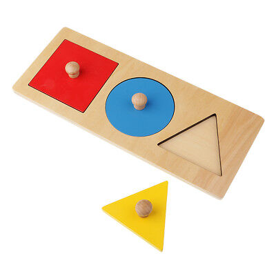Kids Wooden Geometry Educational Toys Puzzle Montessori Early Learning #10
