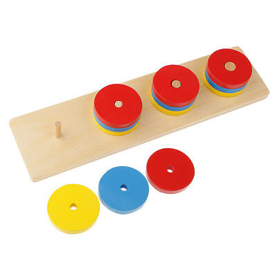 Kids Wooden Geometry Educational Toys Puzzle Montessori Early Learning #8