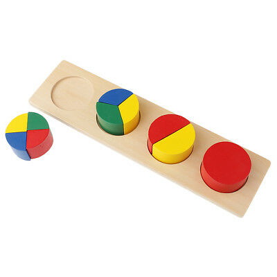 Kids Wooden Geometry Educational Toys Puzzle Montessori Early Learning #5