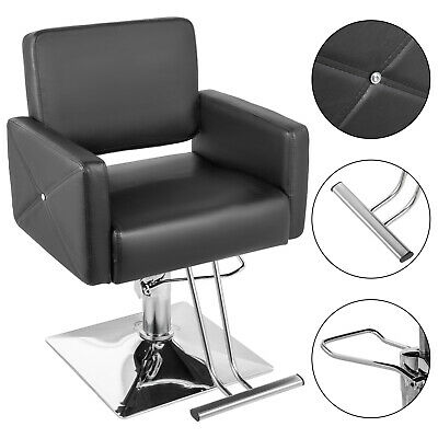 Salon Cutting Hairdressing Chair Hydraulic Adjustable Barber PU Leather