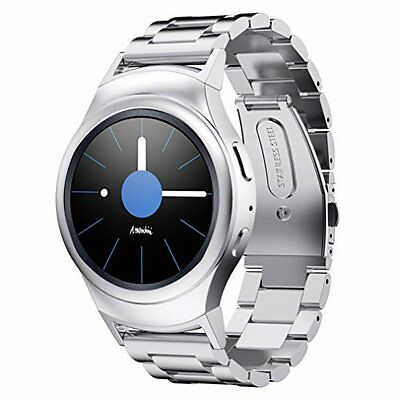 Samsung Gear S2 Watch Band w/[3PACK]Screen Protector & Connector adapter(Silver)