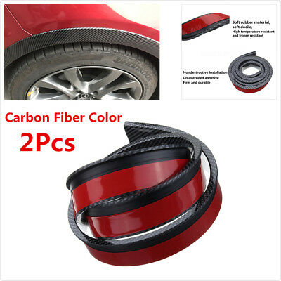 2Pcs//Set Black Surface 3.8cm//1.5M Car Fender Flare Wheel Eyebrow Protector Lips