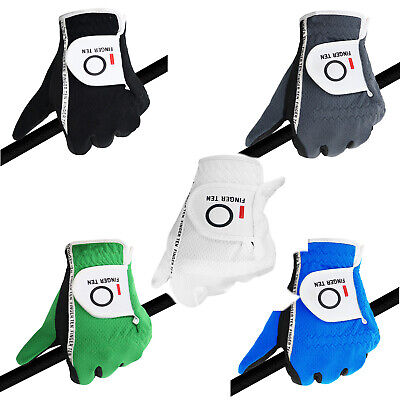 Mens Golf Gloves Left Hand Right Lh Large XL ML M Value Pack Black Gray Fit Soft