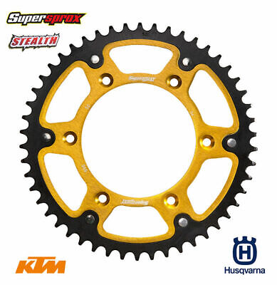 Supersprox Stealth Sprocket 53T Gold KTM Husqvarna SX SXF EXC EXCF TC FE TE FC