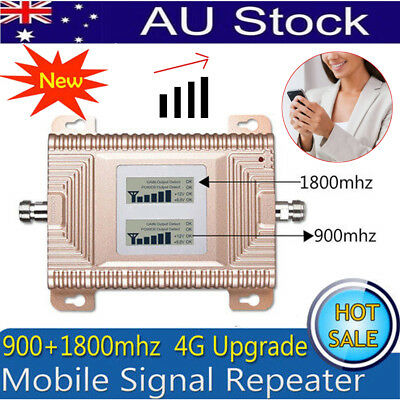 900/1800MHz 70dB Signal LTE 4G GSM 2G Dual Band Mobile Booster Repeater Antenna