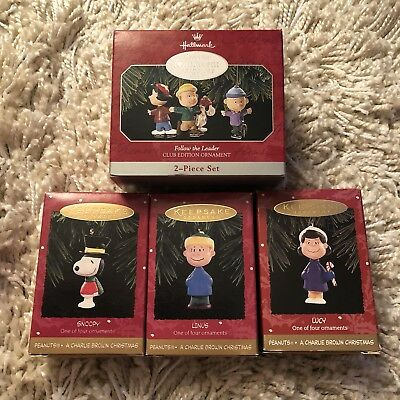 Hallmark Ornaments - PEANUTS A Charlie Browns Christmas - Lot of 4