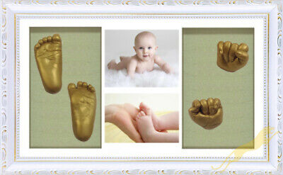 Baby Keepsake DIY 3D Casting kit 100% Safe & Shadowbox photo frame White