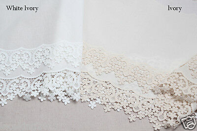 "14yds Embroidery cotton eyelet lace trim 1/"" white YH1059  laceking2013"