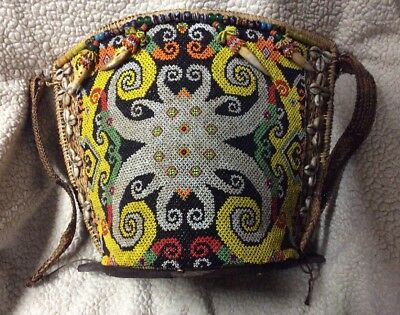 Baby Child Dayak carrier Handcrafted With Embellishments, Beading from Borneo