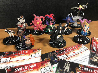 Horrorclix lot of 10 figures/cards  Shoggoth Tooth Fairy Unholy Trinity Pod