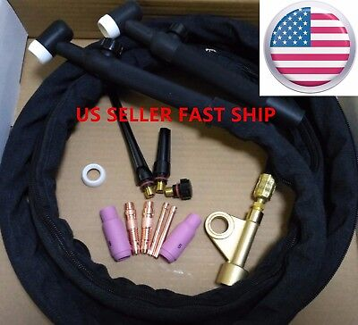 US SELLER,  WP-17V 12ft 150A, Air-Cooled TIG Welding Torch with Gas Valve