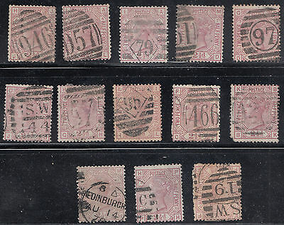 Great Britain Selection of SG #141 Various Plates  *