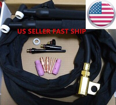 US SELLER , WP-26V 12' 200Amp Air-Cooled with Gas Valve TIG Welding Torch