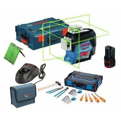 Pack Laser BOSCH GLL 3-80 CG Professional + BM1 + Target + Pack accessories