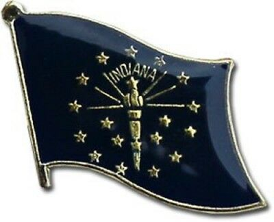 Wholesale Pack of 6 State of Indiana Flag Bike Hat Cap lapel Pin