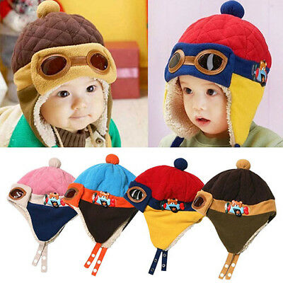 BL_ Winter Baby Earflap Toddler Girl Boy Kids Pilot Aviator Cap Warm Beanie Hat