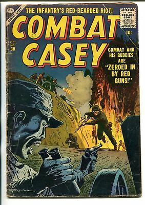 Combat Casey #30 Atlas War Hero Series 1956 Late Issue G-