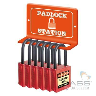 Mini Lockout / Tagout lock Station - Wall Mounted For 6 Locks