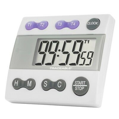Control Company 5004 Traceable Four-Channel Alarm Timer Calibrated