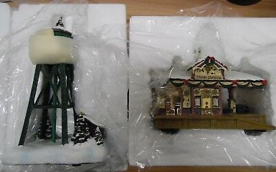 Hamilton Villiage Lot of 2 Buildings, Water Tower & Train Station