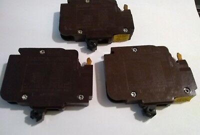Lot Of 3 Nc120  / Federal Pacific  1 Pole  20 Amp  Type Nc Thin Circuit Breakers