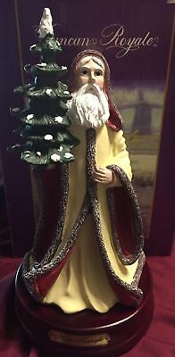 Musical Christmas Large Figurine Kris Kringle Duncan Royale Music Box