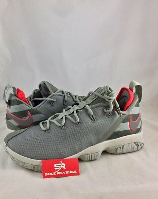 64ac800528d NEW NIKE LEBRON XIV 14 LOW BASKETBALL SHOES 878636-003 Dark Stucco Green  Sail