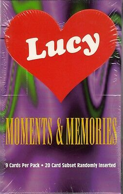 Lucy Moments & Memories 1995 Krc Factory Sealed Trading Card Box Of 36 Packs