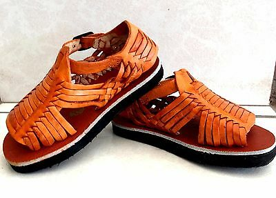 Kids & Toddler Mexican Huaraches Leather Sandal Open Toe Pachuco Style All Sizes
