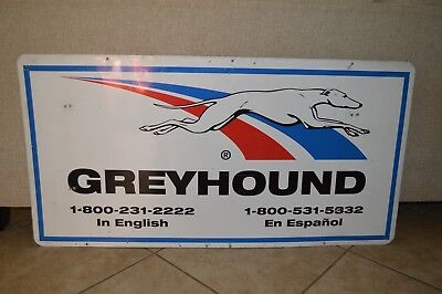 VINTAGE LARGE GREYHOUND Bus Station Sign - $350.00 | PicClick