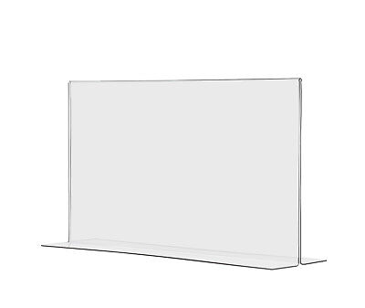 """8.5""""W x 5.5""""H Double-sided, Bottom Loading Table Sign Holder (Lot of 24)"""