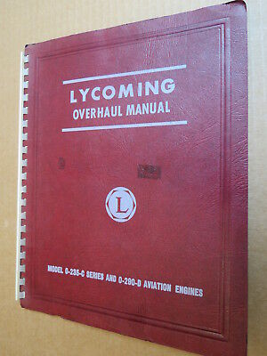 Original Lycoming O-235-C Series & O-290-D Aircraft Engine Overhaul Manual