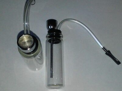 Collectible Tobacco Clear Glass Hookah Mini Water Pipe 4 inch Free Shipping!!!
