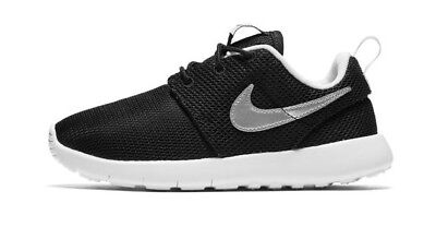 de7959ee429a2 NEW NIKE ROSHE One Kids Black Metallic Silver White Orig 749427 021 ...