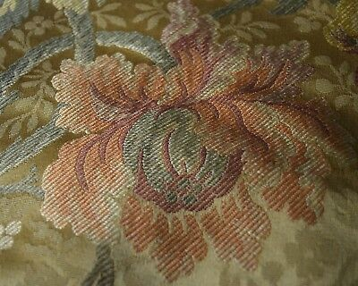 Flowers & Fruits - Vintage Brocade Fabric –Fabulous! Tt470