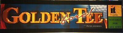 "Golden Tee Fore! Arcade Marquee 26"" x 6.9"""
