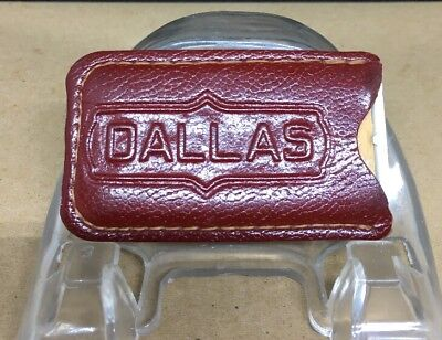 Vintage Dallas Charga-Plate Associates Charge Card With Leather Case