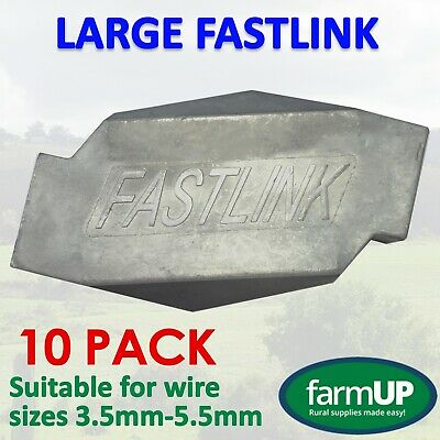 10x LARGE FASTLINK WIRE JOINERS fence strainer Works with gripple