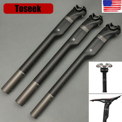 TOSEEK Full Carbon Fiber MTB Road Bike Seatpost Seat Post Tube 27.2/30.8/31.6mm