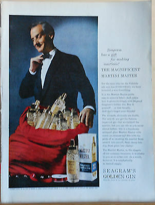 1958 magazine ad for Seagram's Golden Gin - Magnificent Martini Master photo
