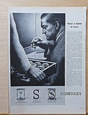 1953 magazine ad for Schenley Whiskey - Whiskey sampling & tasting by experts