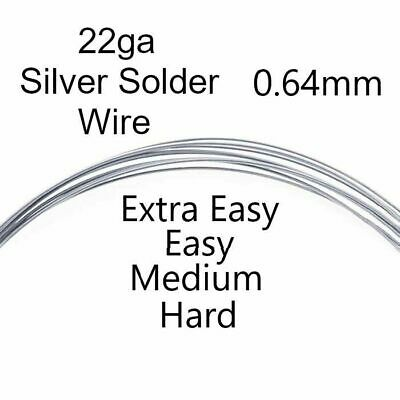 22ga Silver Wire Solder Extra Easy Medium Hard Soldering Jewellery Sterling