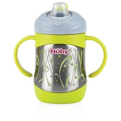 Nuby ID10260 Thermo Stainless Steel Drinking Cup with Spout, 220ml
